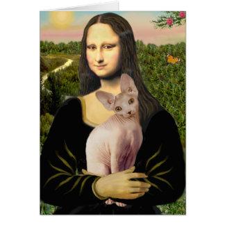 Cartes Mona Lisa - chat crème de Sphynx