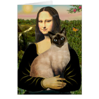 Cartes Mona Lisa - chat siamois de point de joint