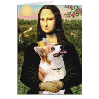 Cartes Mona Lisa - corgi 7b de Gallois de Pembroke