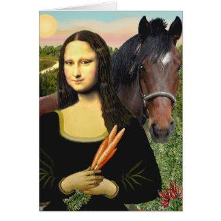 Cartes Mona Lisa et son cheval quart