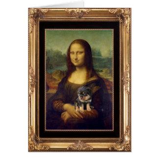 Cartes Mona Lisa et son rottweiler