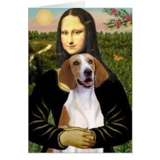 Cartes Mona Lisa - fox-hound américain
