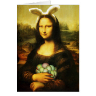 Cartes Mona Lisa, le lapin de Pâques