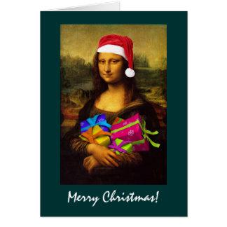 Cartes Mona Lisa le père noël