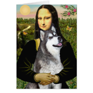 Cartes Mona Lisa - Malamute d'Alaska