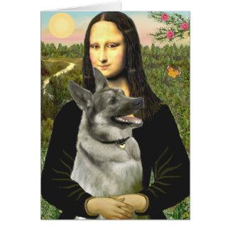 Cartes Mona Lisa - Norvégienne Elkhound