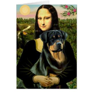 Cartes Mona Lisa - rottweiler (#3)