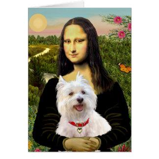 Cartes Mona Lisa - Westie 3