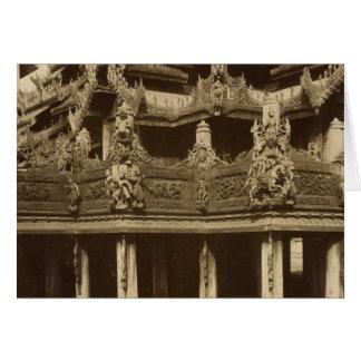 Cartes Monastère ou pagoda, détail, probablement Mandalay