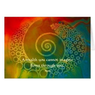 Cartes Mondes de merveille Rumi et d'art poétique