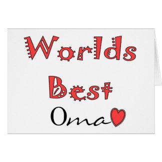 Cartes Mondes meilleur Oma--Cadeaux du jour de mère