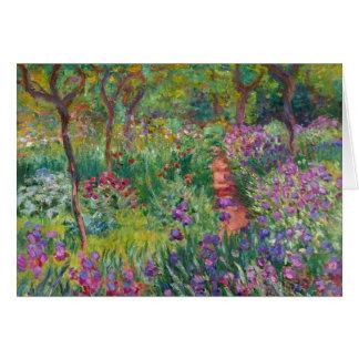 """Cartes Monet """"le jardin d'iris chez Giverny"""""""