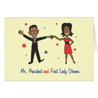 Cartes Monsieur le Président et première Madame Obama