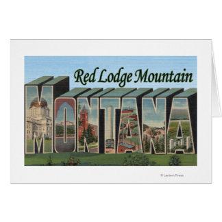 Cartes Montagne rouge de loge, Montana