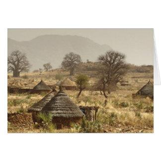 Cartes Montagnes de Nuba, village de Nugera