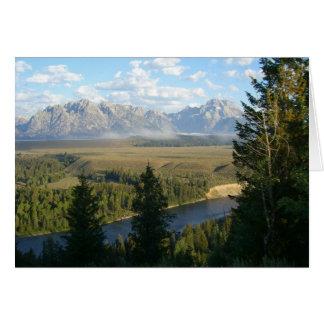 Cartes Montagnes et rivière de Jackson Hole