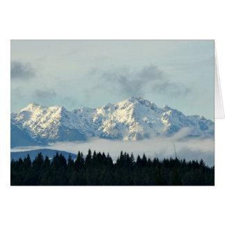 Cartes Montagnes olympiques dans l'état de Washington