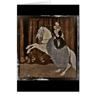 Cartes Monte d'un cheval dans la forêt