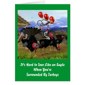Cartes Montez comme un anniversaire d'Eagle
