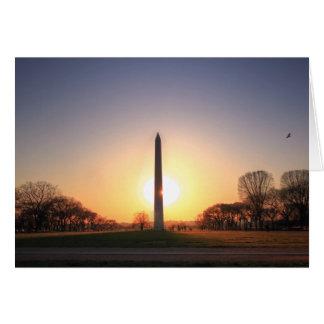 Cartes Monument de Washington au coucher du soleil
