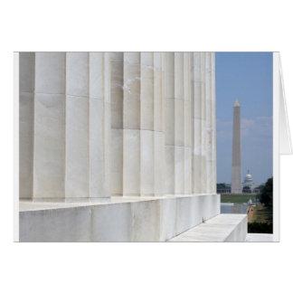 Cartes monument du Lincoln Memorial Washington