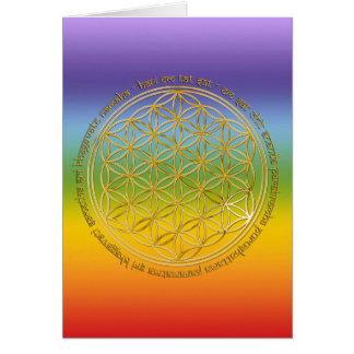 Cartes Moola mantra/fleur de la vie | chakren color