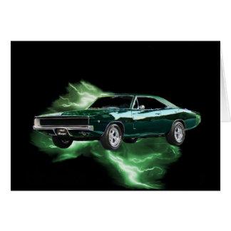 Cartes Mopar : 'Chargeur de 68 Dodge avec la foudre verte