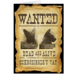 Cartes Morts et vivant voulus.  Le chat de Schroedinger