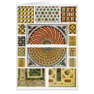Cartes Mosaïque de marbre bizantine de plancher