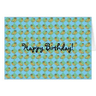 Cartes Motif à motifs de losanges bleu de banane
