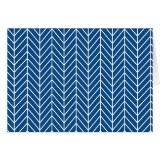 Cartes motif bleu de chevron