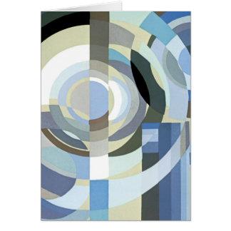 Cartes Motif bleu vintage de cercles de rétro jazz d'art