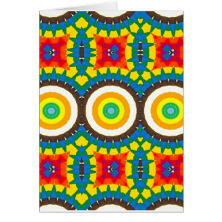 Cartes Motif coloré de point de kaléidoscope