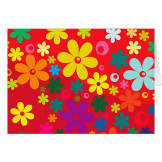 Cartes Motif coloré hippie super de paix d'amour de