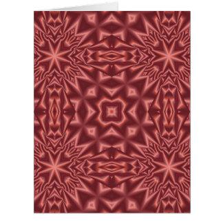 Cartes Motif d'abrégé sur rouge