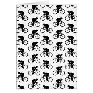 Cartes Motif de bicyclette en noir et blanc.