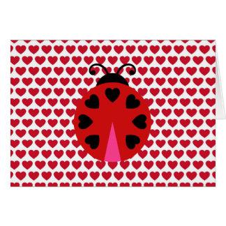 Cartes Motif de coeurs de jour de Valentines abordable