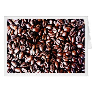 Cartes Motif de grains de café - rôti foncé