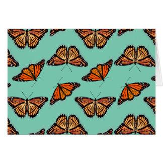 Cartes Motif de papillon de monarque