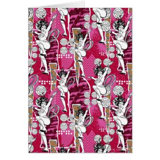 Cartes Motif de rose de femme de merveille