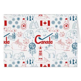 Cartes Motif de symboles du Canada |