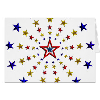 Cartes Motif des étoiles patriotiques