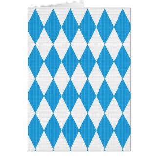 Cartes Motif d'Oktoberfest avec la texture de tissu