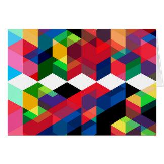 Cartes Motif géométrique lumineux de diamant