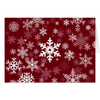 Cartes Motif heureux de flocons de neige de vacances sur
