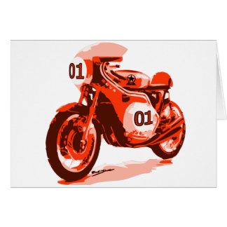 Cartes Moto de emballage vintage rouge