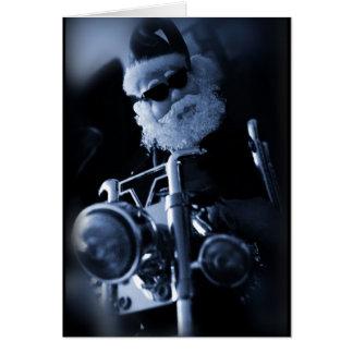 Cartes moto de père Noël