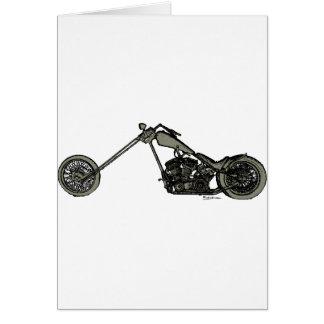 Cartes Moto faite sur commande grise