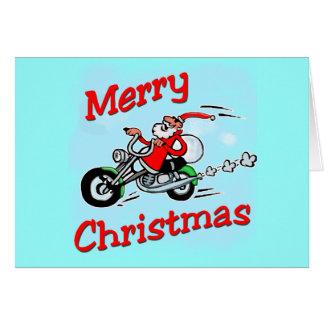 Cartes Moto Père Noël