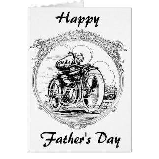 Cartes Moto vintage de fête des pères